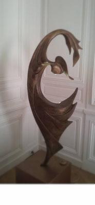 Saphir   tirage en résine dorée  lampe  1,30cm