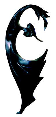SAPHIR   Modèle en résine bleue    1,30cm de hauteur