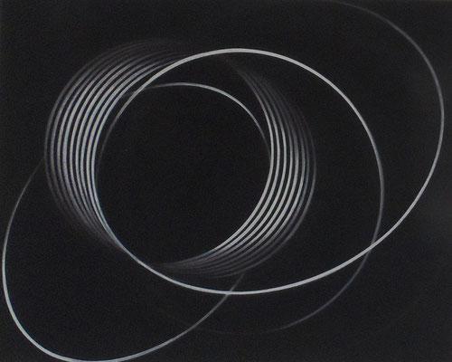 impuls.schleife X   2009  40 x 50 cm    acryl auf leinwand