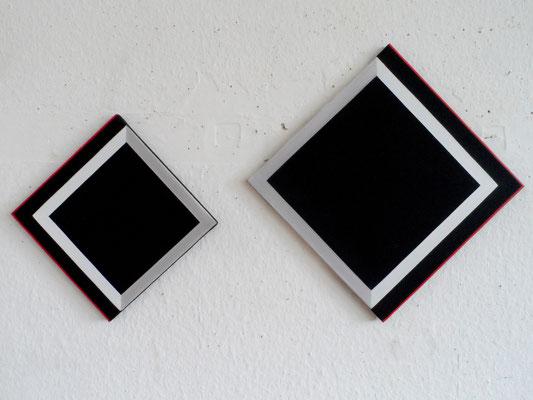 untitled.2squares  30 x 30 cm & 40 x 40 cm    2014/2015   acryl auf leinwand