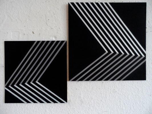 untitled.XLIX 40x40cm&50x50cm 2014  acryl auf mdf