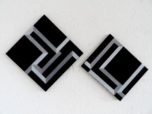 untitled.2sqauresIII 30x30& 30x20cm 2015  acryl auf leinwand