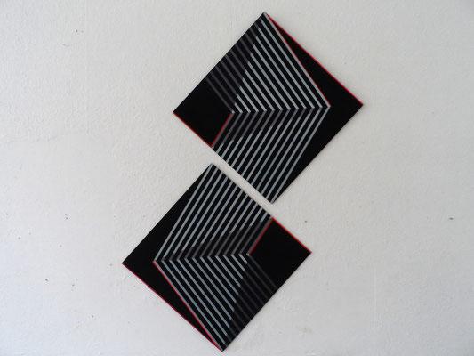 untitled.XLIII 2x 50 x50 cm  2014  acryl  auf mdf