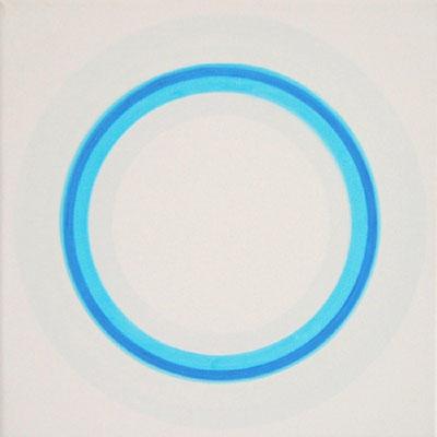 2kreise. hellblau III   30 x 30 cm   2012   acryl auf leinwand