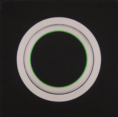 2kreise. I  40 x 40 cm   2012  acryl auf leinwand
