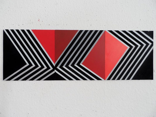 untitled.LVII  3 x 30x30cm     2015     acryl auf mdf