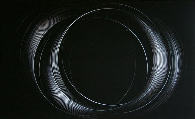 impuls.schleife III   2009   100 x 175 cm    acryl auf  mdf