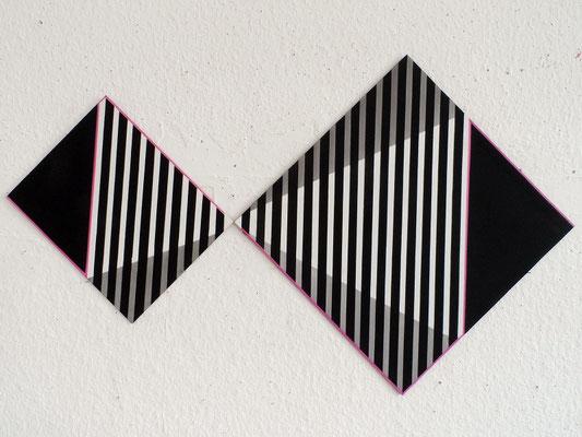 untitled. XXVII  20x30&40x40cm   2013   acryl auf mdf
