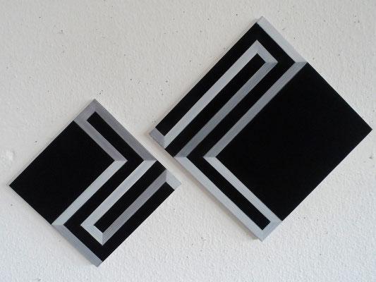 untitled. LXXVIII  30 x 30 cm & 40 x 40 cm  2015  acryl auf leinwand