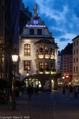 Architekturfotograf München: PR-Fotos, neue Beleuchtung des Hofbräuhauses München