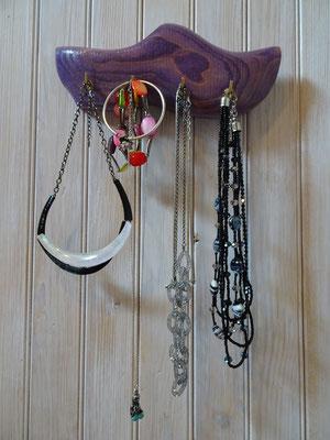Demi-sabots à 4 crochets servant comme porte-bijoux (26 cm)