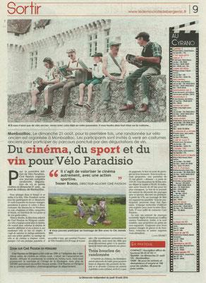 velo paradiso : la presse