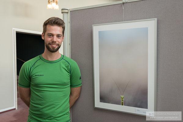 """Christians Bild """"Das Portrait"""" war neben den anderen Wettbewerbsbildern des GDT Naturfotografen des Jahres zu sehen"""