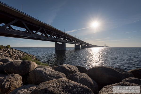 Die Öresundbrücke verbindet Schweden mit Dänemark