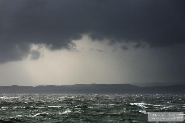 Stürmisches Wetter an der Südküste von Norwegen
