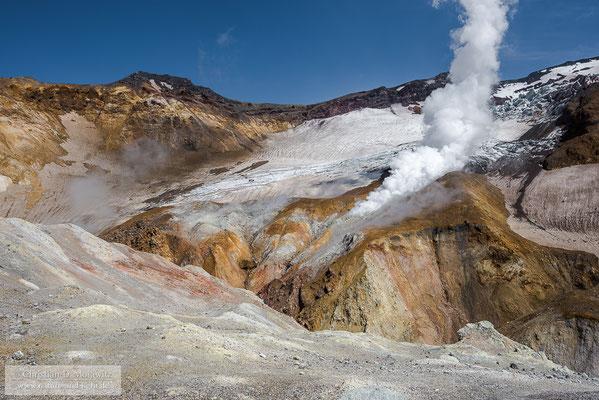 Im Krater des Mutnovsky Vulkans