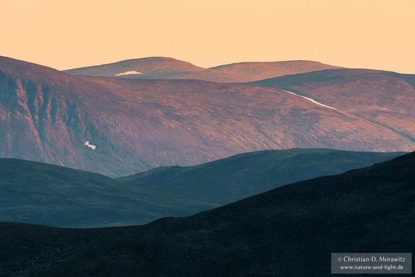 Sonnenuntergang über dem Fjell