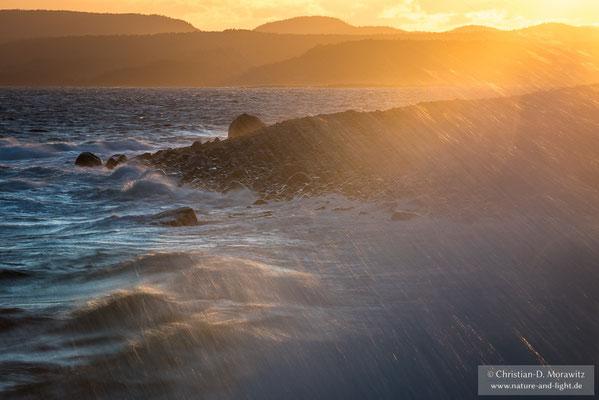 Sonnenuntergang an der Südküste Norwegens