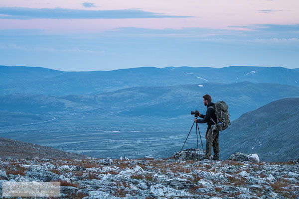 Beim fotografieren im Dovrefjell (Foto: Dominik Janoschka)
