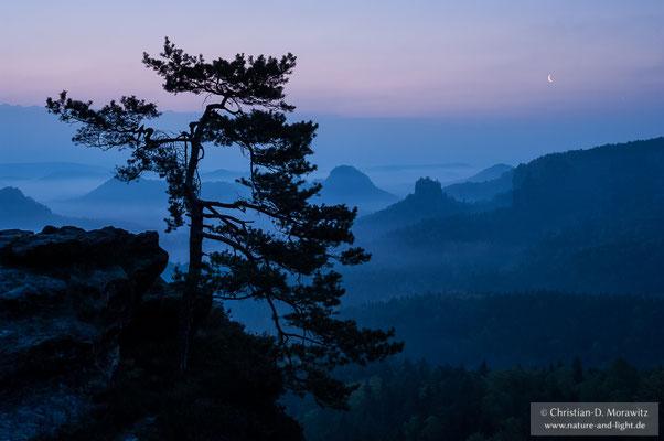 Blaue Stunde in der Sächsischen Schweiz
