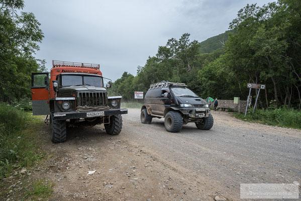 In den tiefer gelegenen Bereichen konnten auch wieder die schweren Ural LKWs fahren