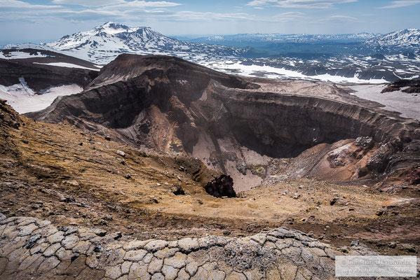 Krater des Gorely Vulkans