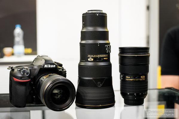 Das neue AF-S Nikkor 500 mm f/5,6 E PF ED VR ist etwa so groß wie ein 70-200 mm Zoom und wiegt weniger als 1500 Gramm
