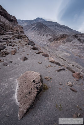 Am Hang des Bezymianny Vulkans