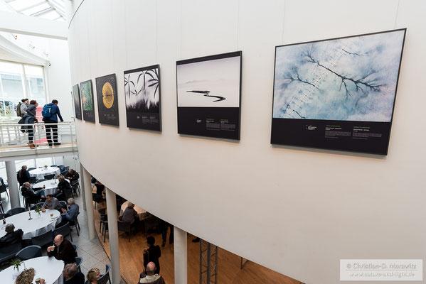 """Die Bilder des Wettbewerbs """"GDT Europäischer Naturfotograf des Jahres"""" waren in großen Formaten zu bewundern"""