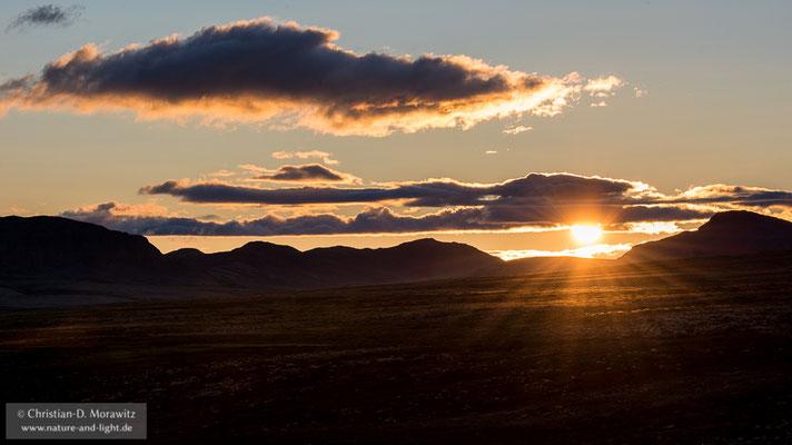 Sonnenuntergang im Rondane Nationalpark