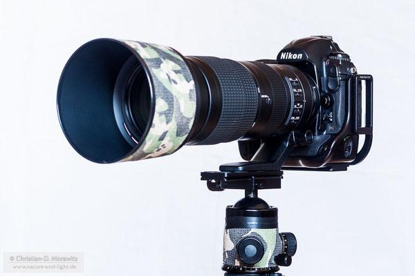 AF-S Nikkor 200-500 mm f/5,6E ED VR an der Nikon D3