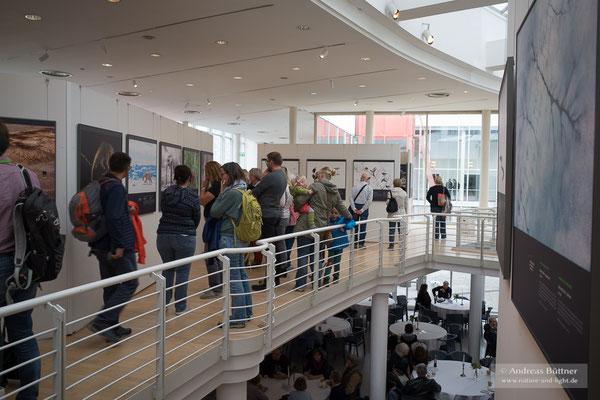 Vor allem in den Pausen strömten die Besucher des Festivals zu den Ausstellungen