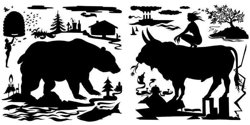 Bulle und Bär, eine Editorial Illustration für rincón2.
