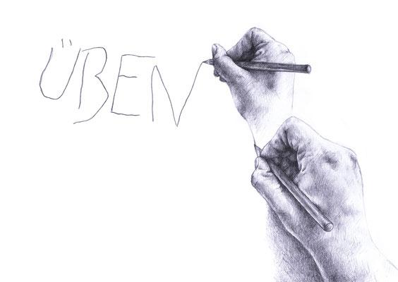 Illustrierte Worte aus dem Unterricht
