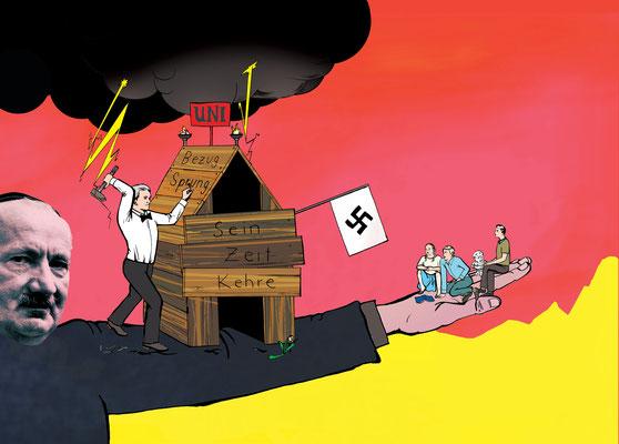 Das Magazin Hoheluft widmete sich dem Verhältnis von Heidegger zum Nationalsozialismus.
