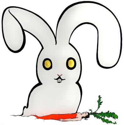 Gott ist ein Hase und ich bin die Karotte. Ich weiß nicht, was er mit mir vorhat.