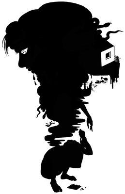 Diese Illustration entstand für die Süddeutsche Zeitung zum Thema Depression.