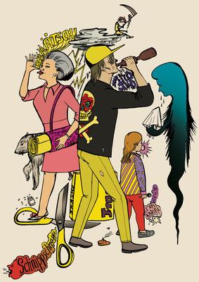 Die Einkommensschere schafft ein ungerechtes Gesundheitssystem! Diese Illustration entstand für das Straßenmagazin Hinz&Kunzt.
