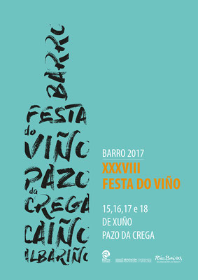 """Cartel """"Festa do Viño"""". Concello de Barro"""