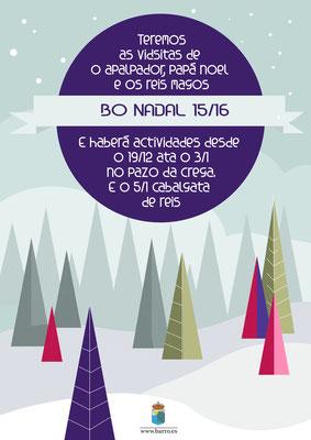 Cartel programa de Nadal para o Concello de Barro