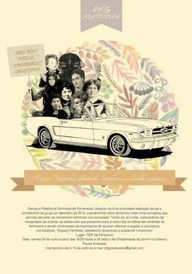 Cartel para o Colectivo Feminista de Pontevedra