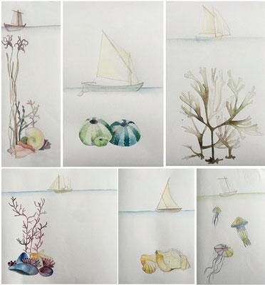 """Ilustracións para a entrega de premios dentro da """"XX concentración de embarcacións tradicionais. Combarro"""""""
