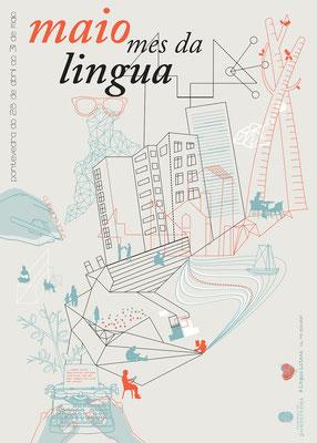 """Imaxe promocional """"Maio mes da lingua"""" Concello de Pontevedra"""