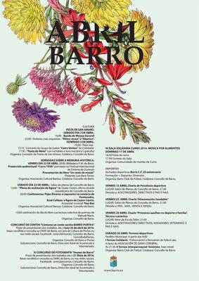 Cartel programación Abril Concello de Barro