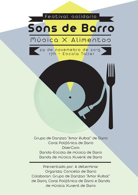 Cartel Concerto solidario, Concello de Barro