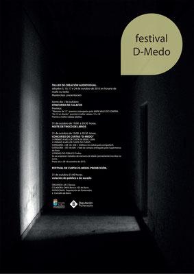 """Cartel para o Festival """"D-medo"""" Concello de Barro"""