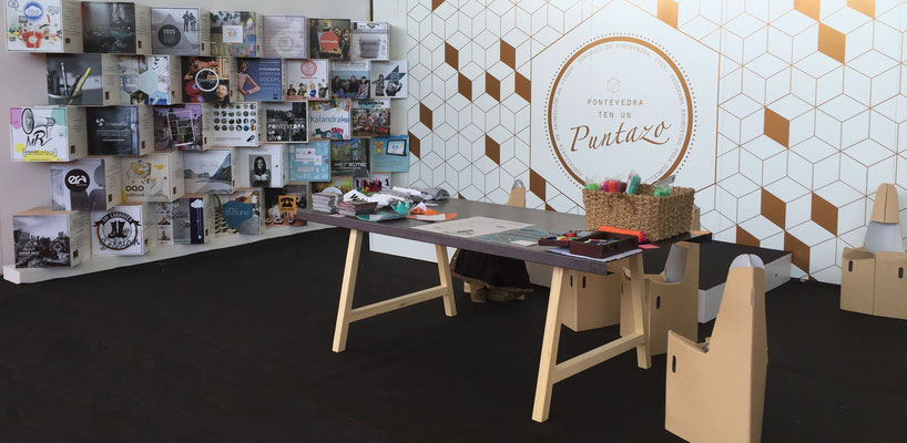 """Stand de """"Pontevedra ten un puntazo"""" para o Concello de Pontevedra no Culturgal 2015"""