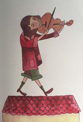 "Ilustración para ""A Nave"" Barro"
