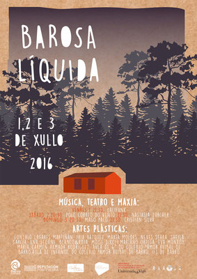 "Cartel do festival ""Barosa Líquida"""