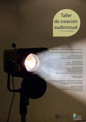 Cartel para o taller de creación audiovisual, Concello de Barro